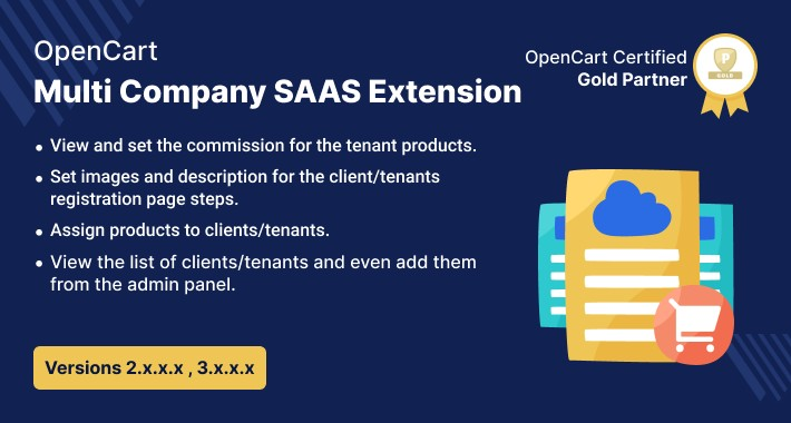 Multi Company SaaS Extension - Build Website Like Shopify