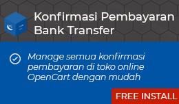 Konfirmasi Pembayaran Bank Transfer OpenCart [Ad..