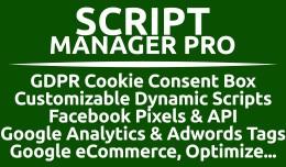 Script Manager Pro (GDPR, Google, FB, Custom &am..