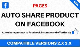 Auto share products on Facebook pages