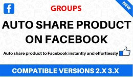 Auto share products on Facebook groups
