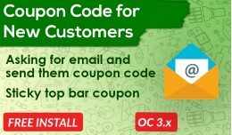 Coupon Code for New Customer [Advanced]
