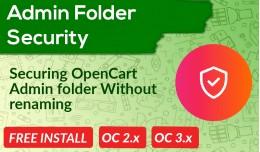 Admin Security Opencart [Enhanced]