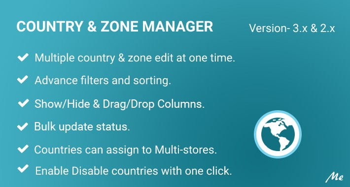 Country & Zone Manager