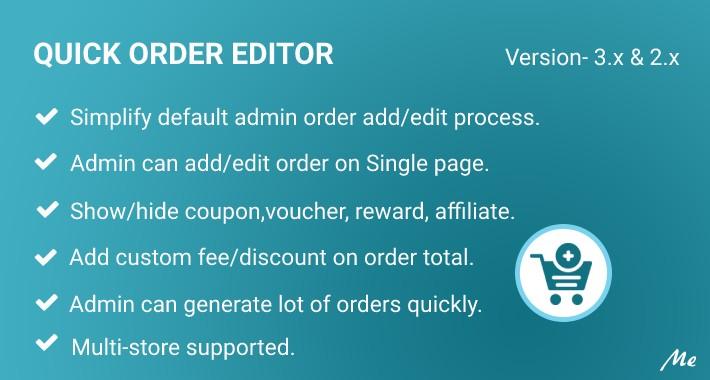 Quick Order Editor