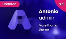 Antonio Admin Theme 2.5 | More than 100 modules ..