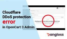 Cloudflare DDoS protection error in OpenCart 3 A..