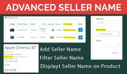 Advance Seller Name OpenCart 3x