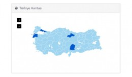 Opencart Admin Dashboard Turkey Map