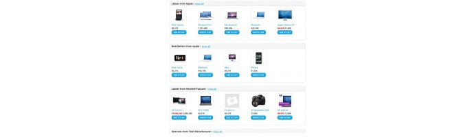 Latest / Bestsellers / Specials by manufacturer module