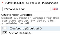Attribute Group - Customer Group Wise