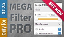 Mega Filter PRO [by attribs, options, brands, price, filters]