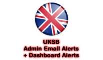 UKSB Admin Email Alerts & Dashboard Alerts