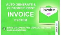 Auto Generate & Customer Print Invoice