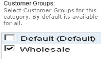 Category - Customer Group Wise