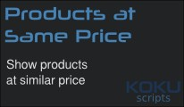 Products At Same Price (VQMod)