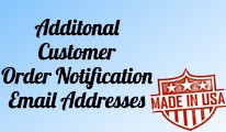 Allow Customer to add Additonal Order Notification Emails