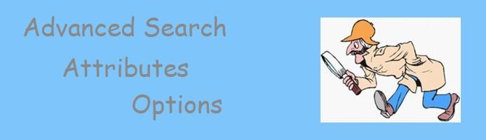 Advanced Search Attributes
