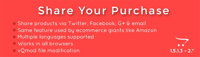 Share Your Purchase - Share bought products via social networks