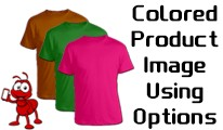 Colored Product Image Using Options