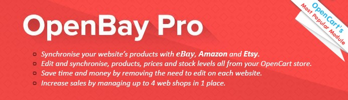 OpenBay Pro - OpenCart's eBay and Amazon adaptor