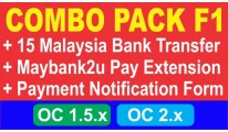 Combo Pack F1 - Malaysia Bank Transfer + Payment Form