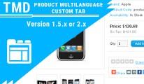 Tmd product custom tab Multilanguage