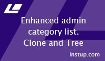 Enhanced admin categories (Clone and Tree)