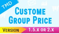 Tmd Price As Per Customer Group Module(1.5.x and 2.x)