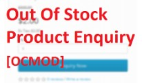 Out Of Stock Product Enquiry[OCMOD]
