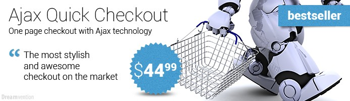 Ajax Quick Checkout module for OpenCart