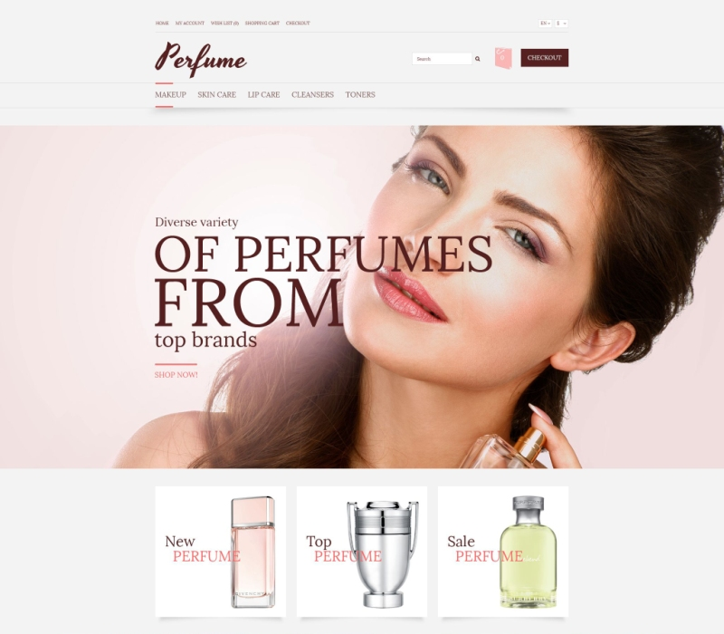 OpenCart Perfume Template
