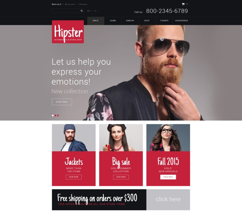 Hipster OpenCart Theme