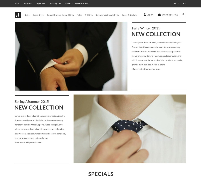 Suits OpenCart Template