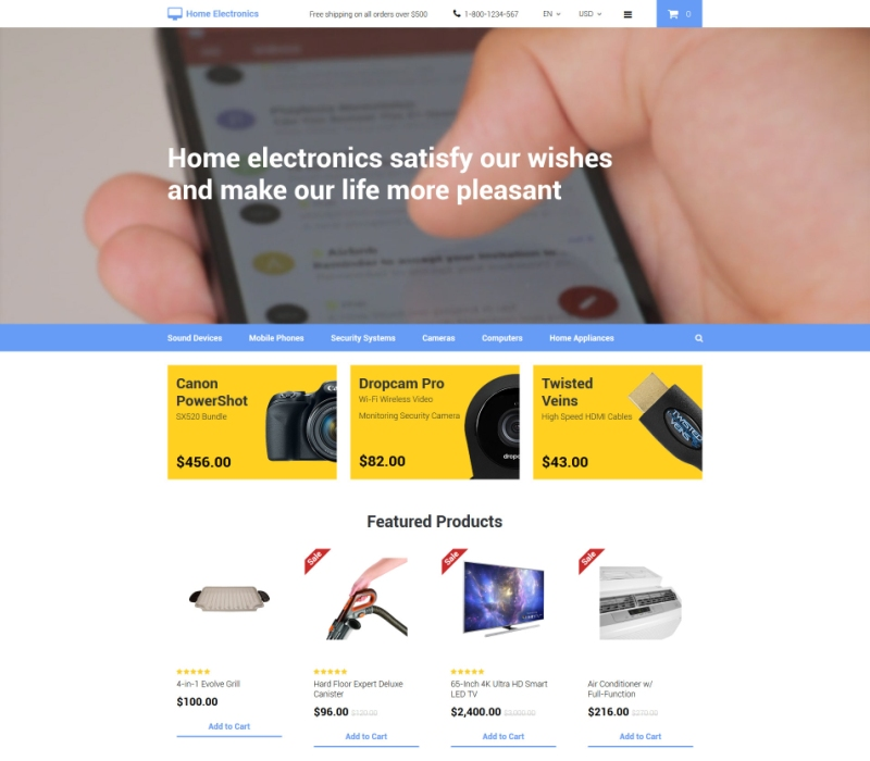 OpenCart Home Electronics Theme