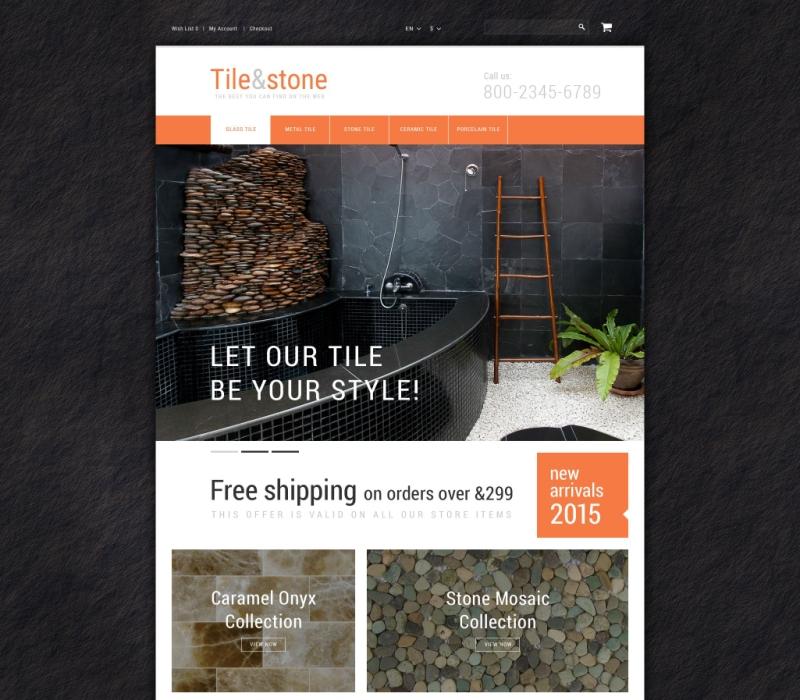 OpenCart Tile & Stone Theme