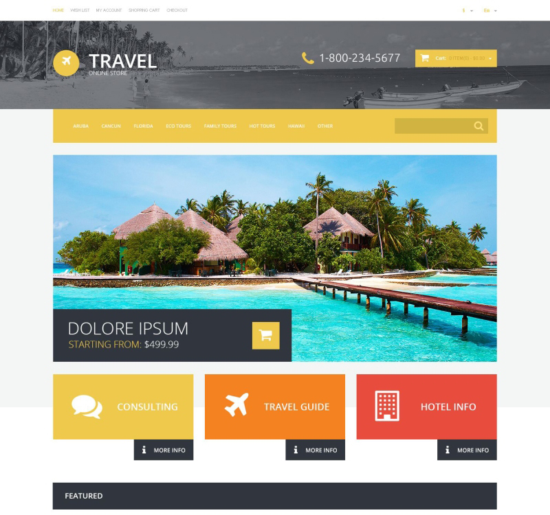 Travel Theme for OpenCart