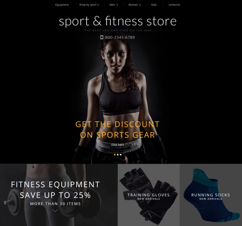 Sport & Fitness Design for OpenCart