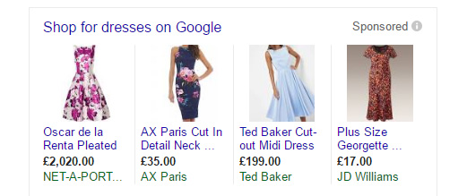 Google Shopping Ad Example