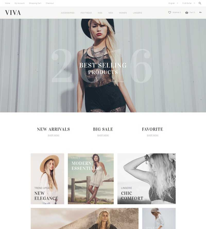 Fashion & Accessories OpenCart Template