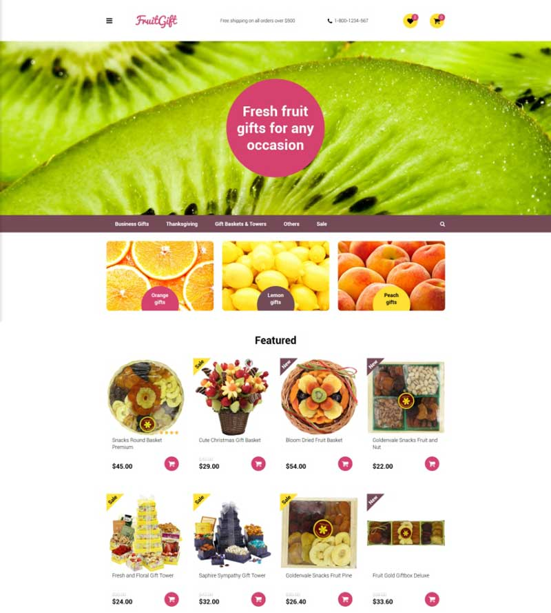 Food & Restaurants OpenCart Template
