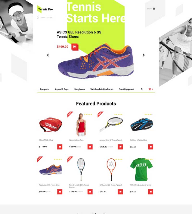 Sports OpenCart Template