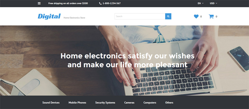 Electronic Opencart Template