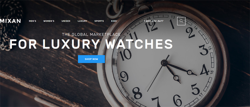 Watches Shop OpenCart Template