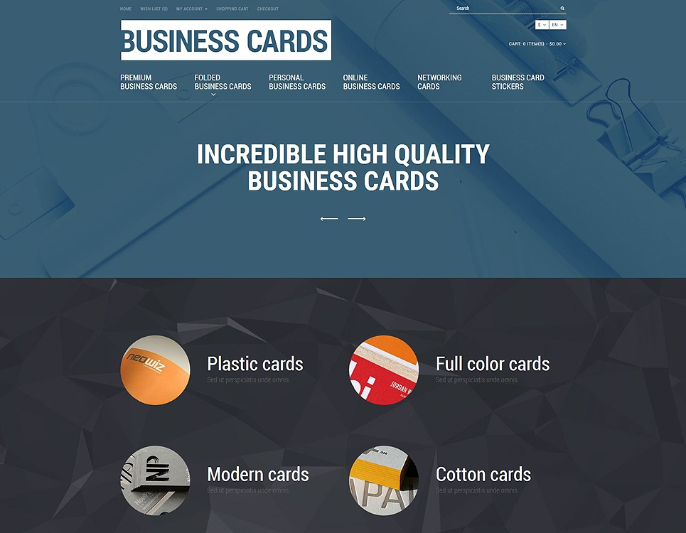 Business Cards Theme