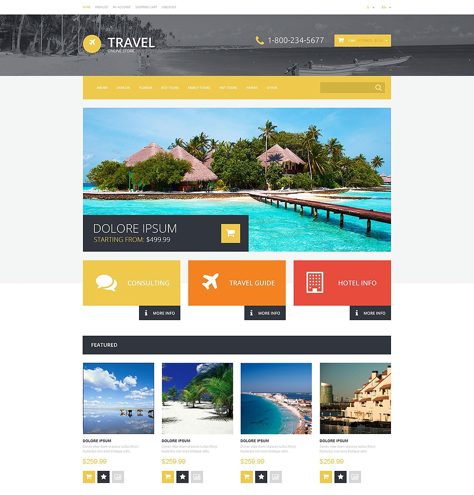 Travel Online Store Template