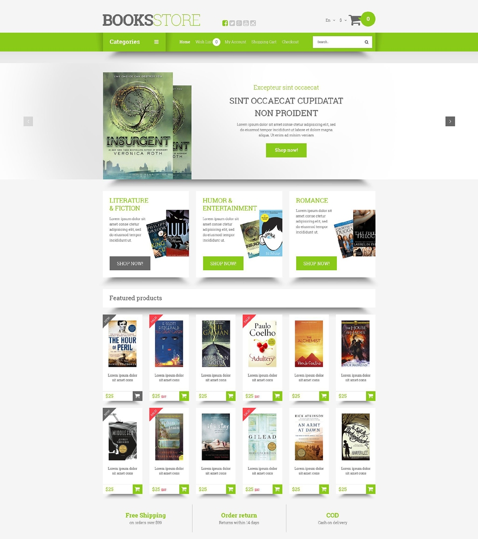 BooksStore Template