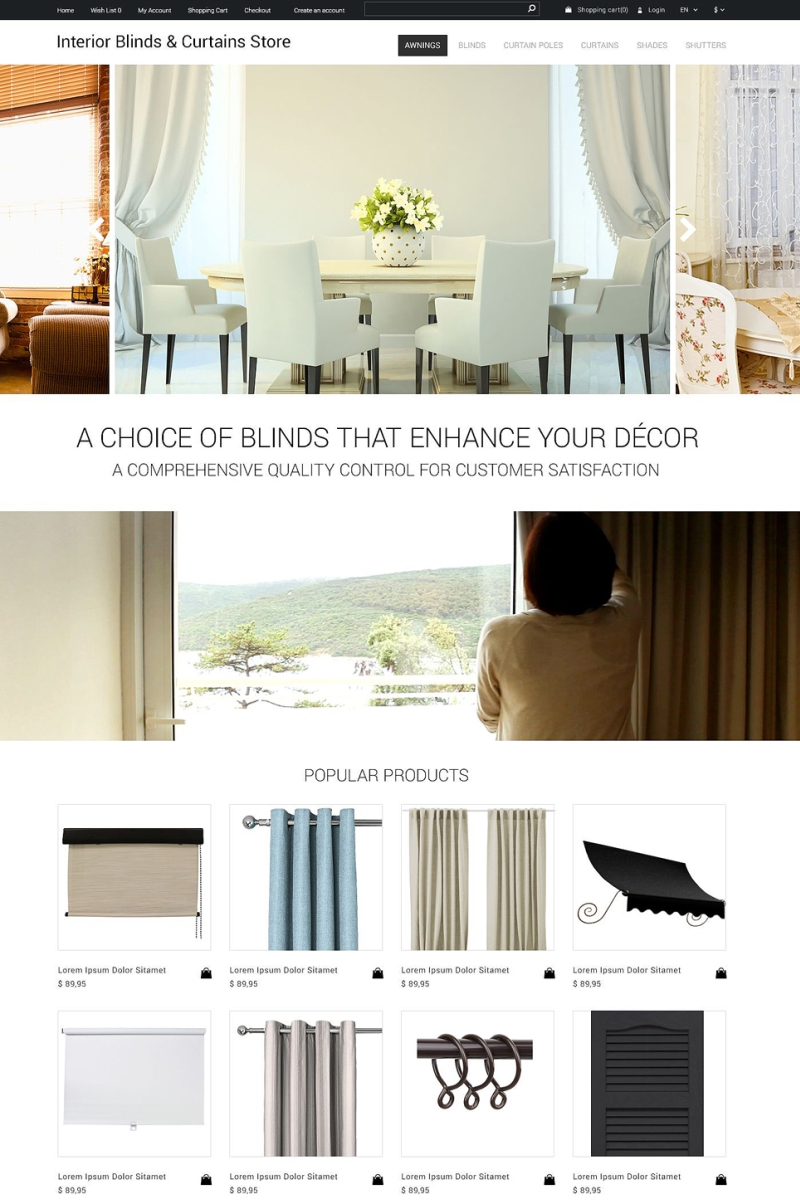 Interior Blinds & Curtains Store