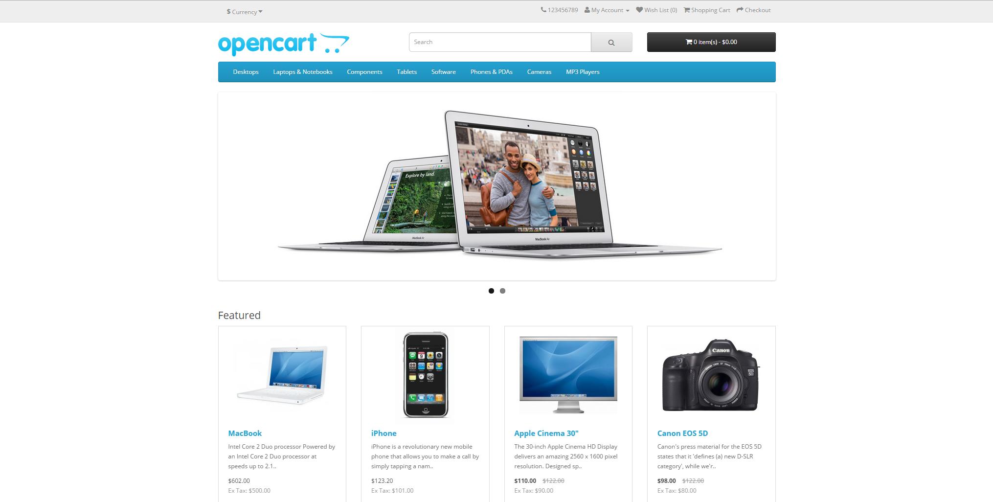 OpenCart 2.0