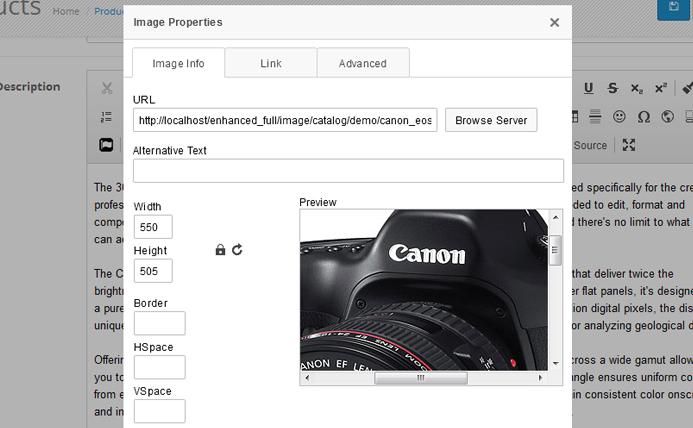 OpenCart - Enhanced CKEditor